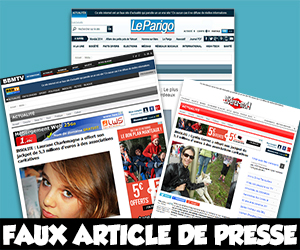 Faux article de presse